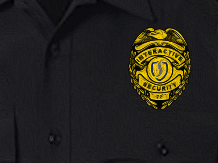Interactive Security Officer Uniform Badge