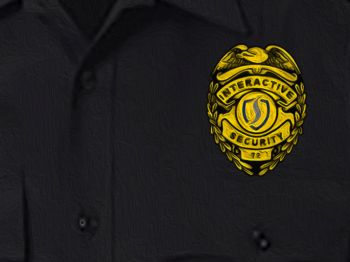 Interactive Security Officer Uniform Badge 350